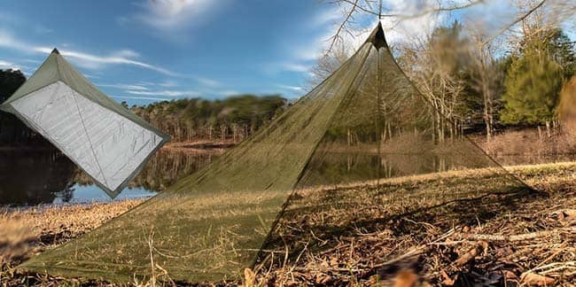 A Mosquito Net for Camping Bed