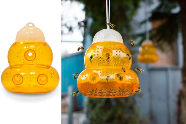 The Best Selling Reusable Bee Trap: photo