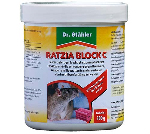 Ratten- und Mäusegift. Stähler 001878 Ratzia: photo