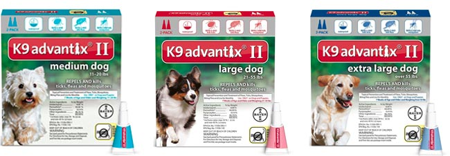 K9 Advantix II Insect Repellent for dogs: photo