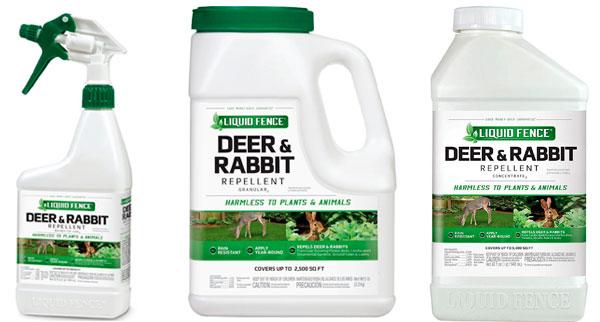 Liquid Fence rabbit repellents: photo