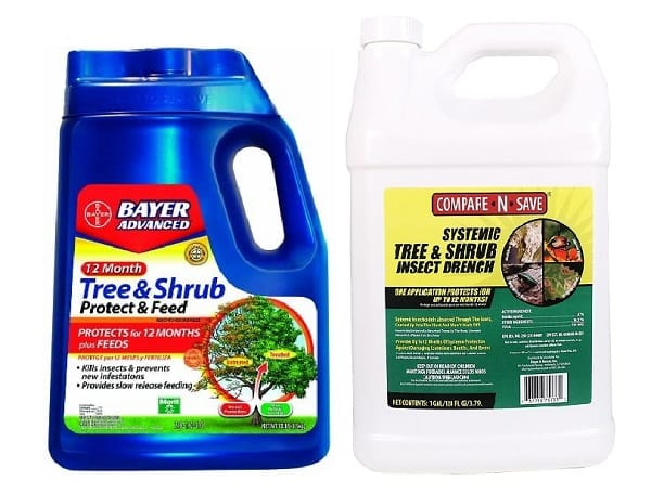 Liquid insecticides for emerald ash borer control