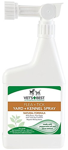 Spray caseiro e Vet's Best Flea e animalzinho limpo