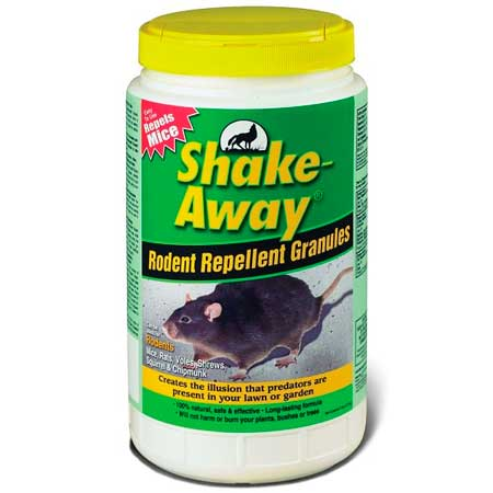 Shake away rodent repellent granules