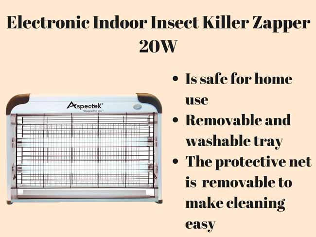 Electronic Indoor Insect Killer Zapper 20W