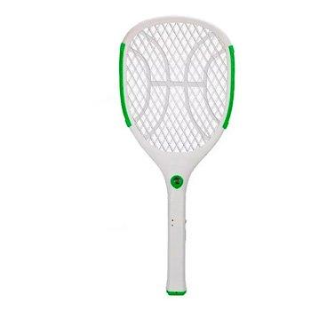 Raquete Mata Mosquito Nsbao Yg-5620 Verde Com Lanterna: foto